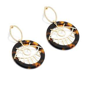 Arrives Soon! Evil Eye Tortoise Shell Earrings